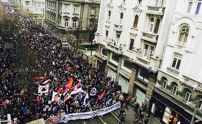 Anti-NATO protest na centralnom niškom trgu