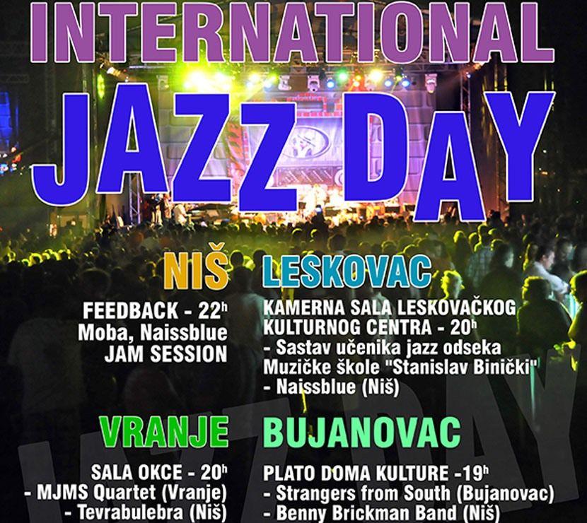 Svetski dan džeza u Nišu, Leskovcu, Vranju i Bujanovcu
