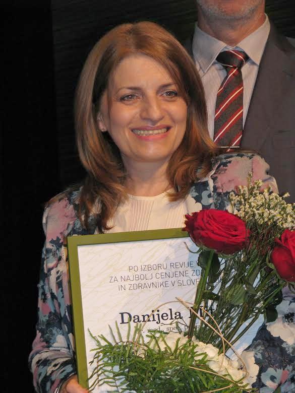 Nišlijka Danijela Mitić najbolji pedijatar u Sloveniji