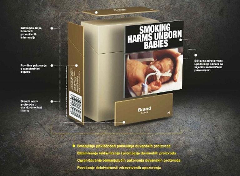 Sve paklice cigareta će biti iste?