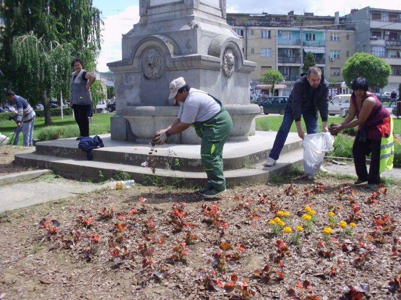Cveće i tuje u vlasotinačkom parku
