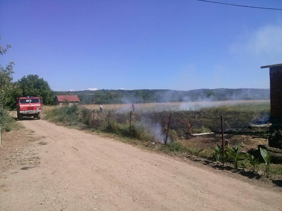 Gorelo Ohridsko naselje, vatrogasci u zadnji čas spasili 2 kuće