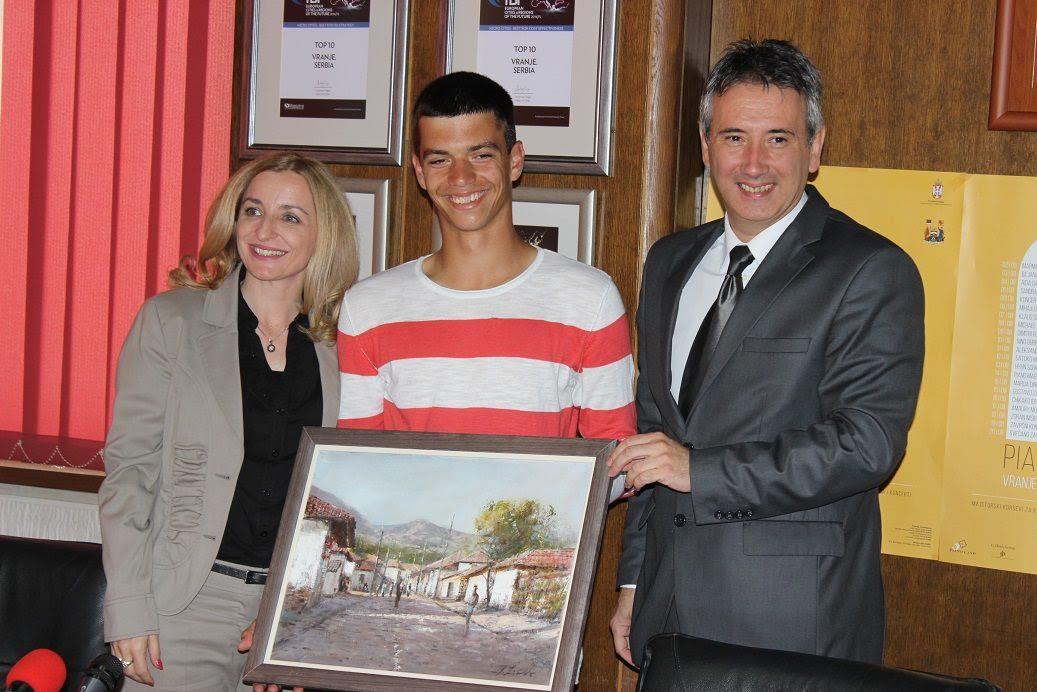 Prijem kod gradonačelnika za najperspektivnijeg mladog Vranjanca