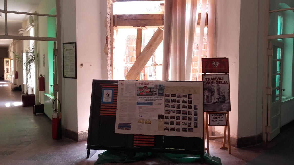 Zida se nova portirnica za obezbeđenje u leskovačkoj Gradskoj kući