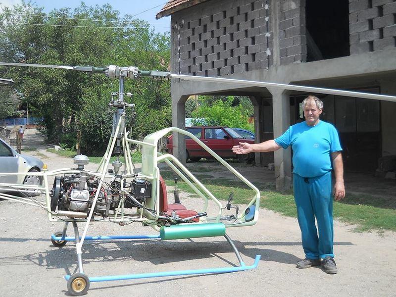 Autolimar Ljubiša Miletić napravio sopstveni helikopter