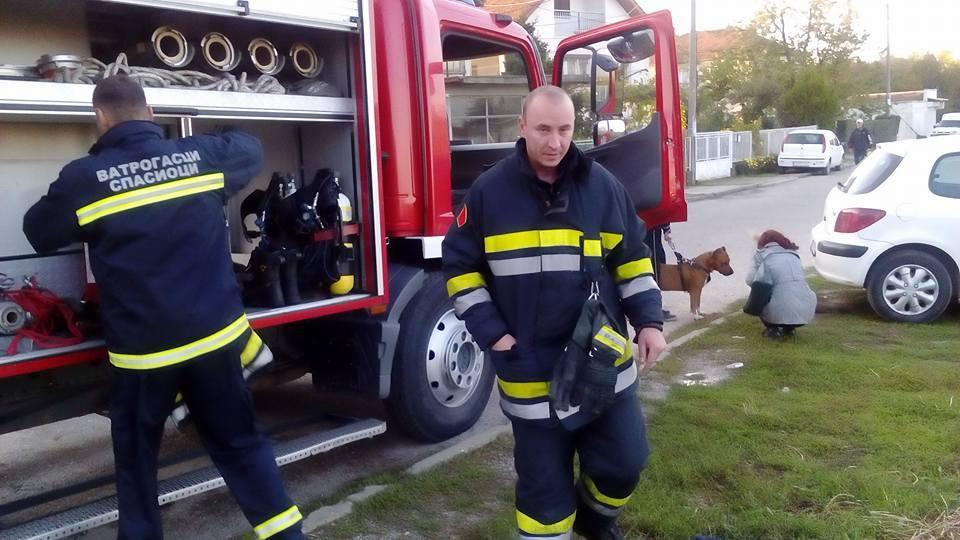 Vatrogasci sat vremena spašavali psa koji je upao u otovren šaht dubok 2 metra