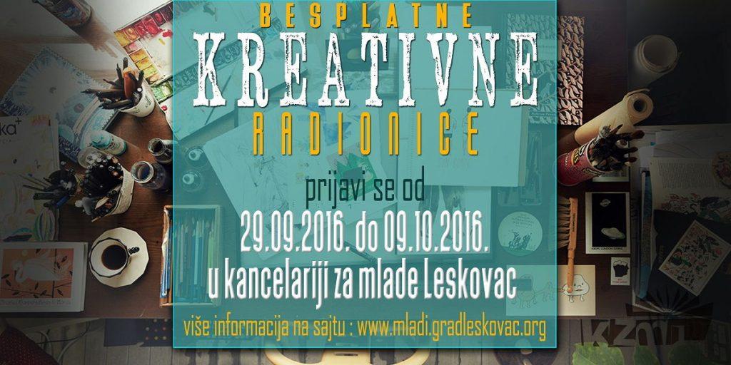 Besplatne radionice za kreativan Leskovac