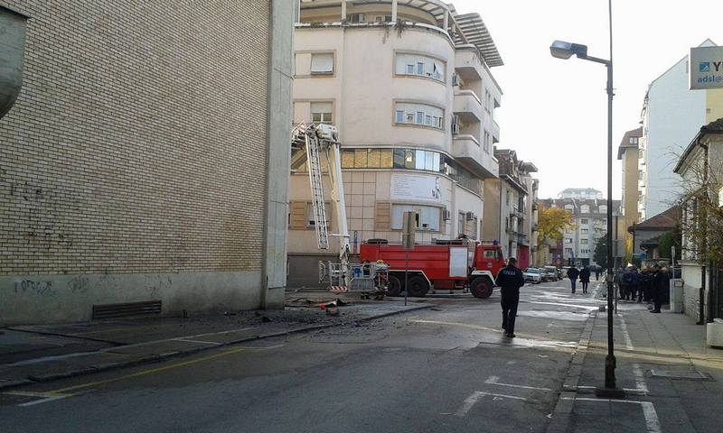 Grčić: Kontejner zapalio zgradu Elektrodistribucije