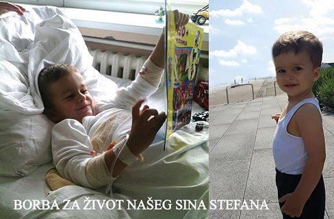 Mali Stefan se bori za život