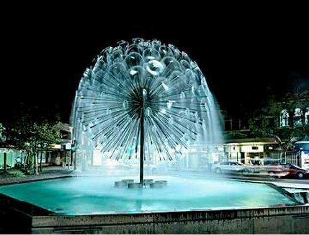 Novi trg i fontana u centru Medveđe