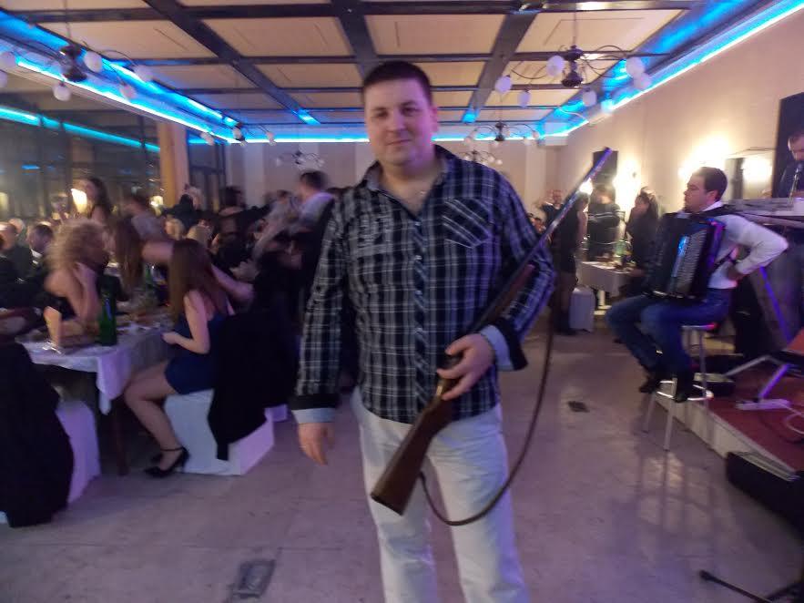 Puška glavna nagrada na lovačkoj zabavi