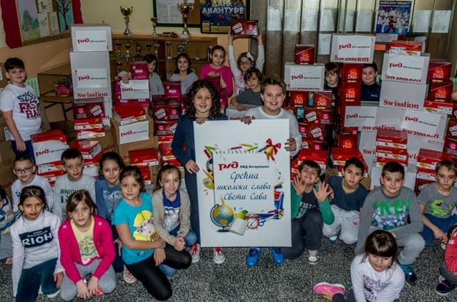 Rusi darivali učenike osnovnih škola