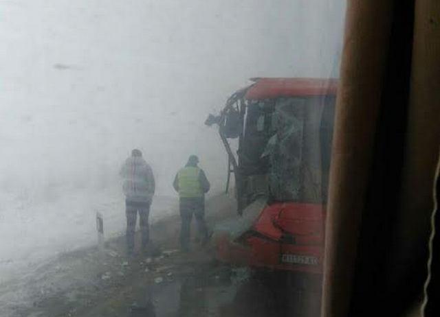 U sudaru dva autobusa povređeno devetoro Leskovčana (FOTOGRAFIJE)