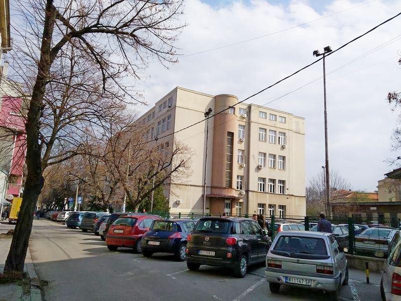 Miodrag Zec i Jovo Bakić na tribini u Nišu