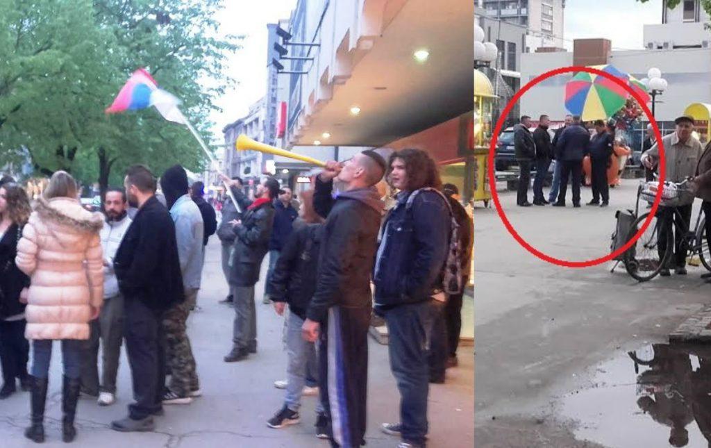 """30 demonstranata, 10 policajaca u civilu i jedan penzioner u Leskovcu """"Protiv diktature"""""""