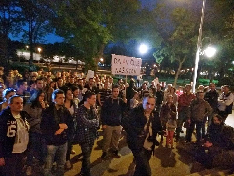 Jedanaesti protest u Nišu, studenti izneli i lokalne zahteve