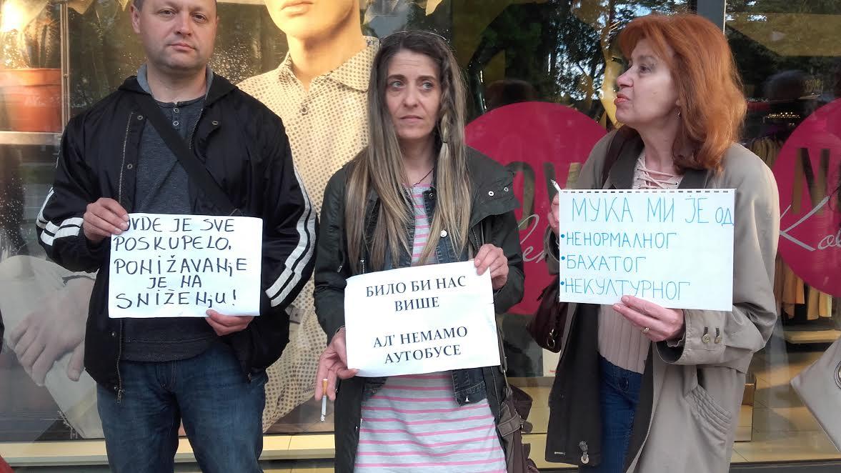 Protesti u Leskovcu: Nikako da se skupe