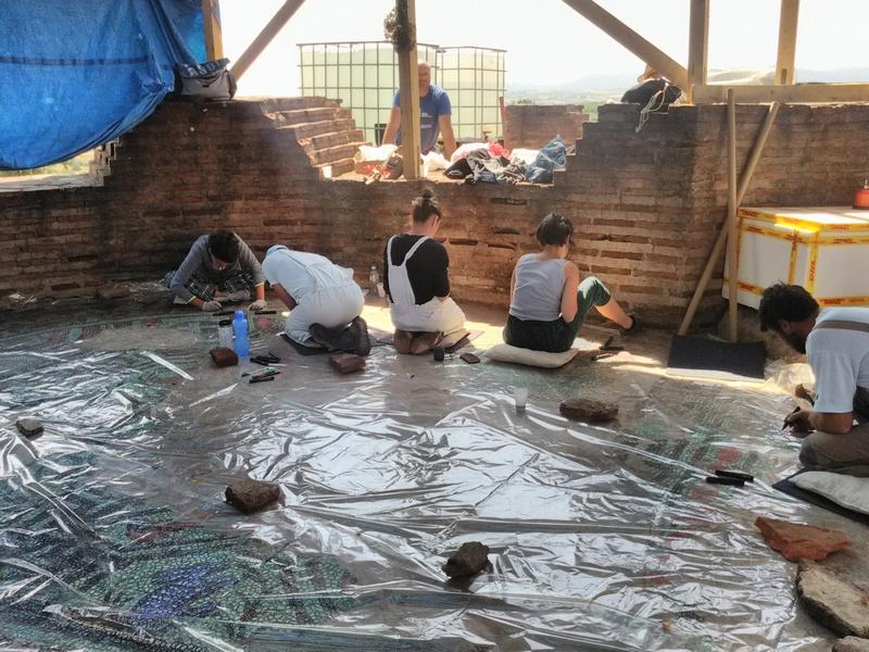 Konzerviraju se mozaici u Caričinom gradu