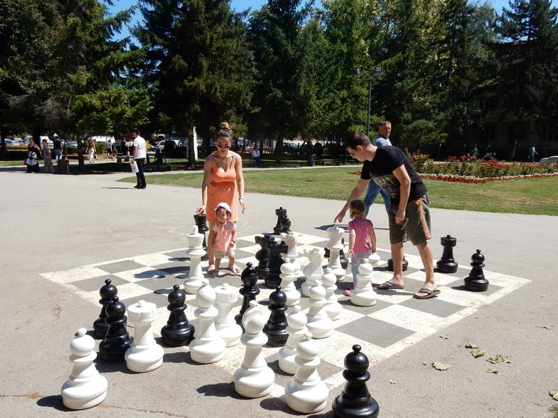 Mame i tate uče decu da igraju šah (FOTO VEST)