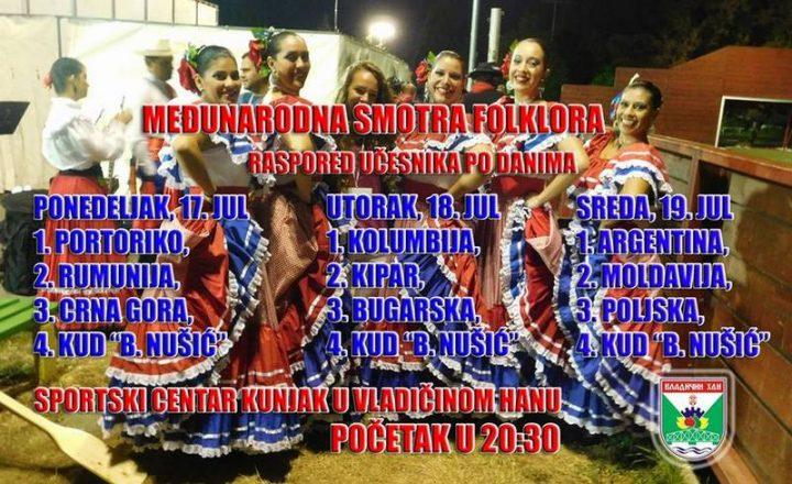 Folkloristi i iz Kolumbije, Portorika, Argentine, Poljske…