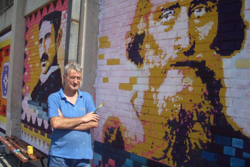 Mural na poklon školi, setio se učeničkih dana