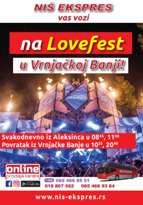 """Sa """"Niš-ekspresom"""" u Vrnjačku Banju na Festival ljubavi"""