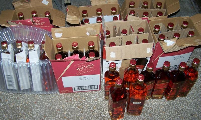 Sprečeno krijumčarenje pedesetak flaša viskija