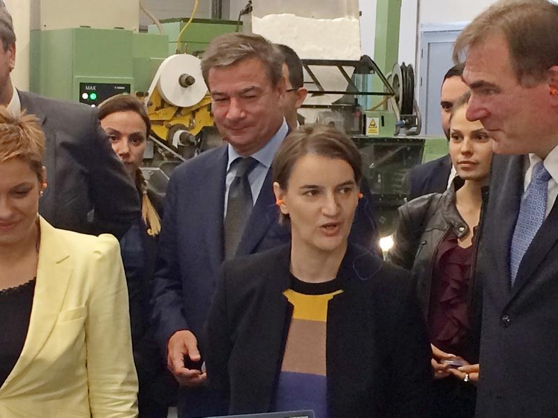 Premijerka pustila novi proizvodni pogon za cigarete u Vranju