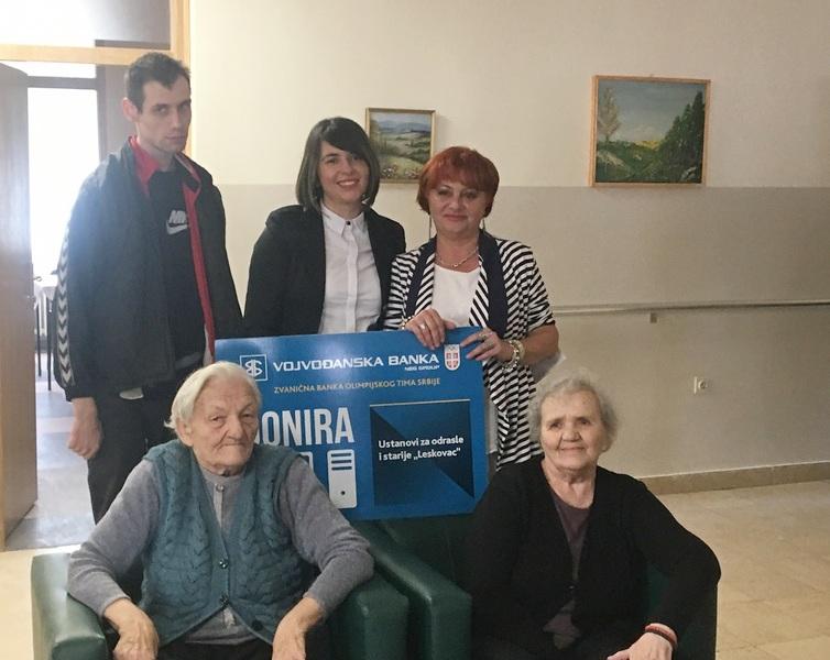 Vojvođanska banka donirala 10 računara Domu za stare