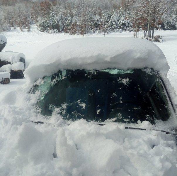 Sneg na Radan planini 15 centimetara