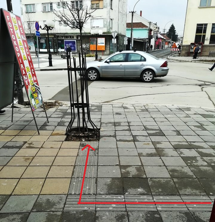 Gde vodi staza za slepe?