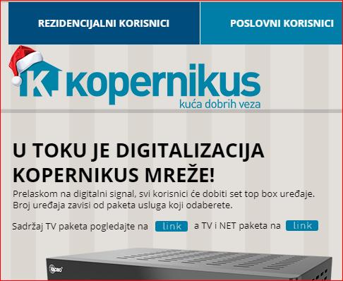 KOPERNIKUSostavio Leskovčane bez interneta u zapadnom delu grada