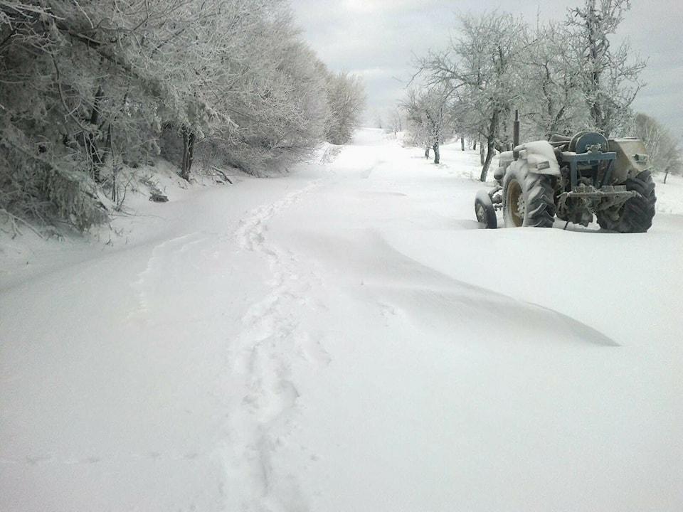 Meštani Oruglice i Ravnog Dela zavejani tri dana, niko nije čistio sneg (VIDEO)