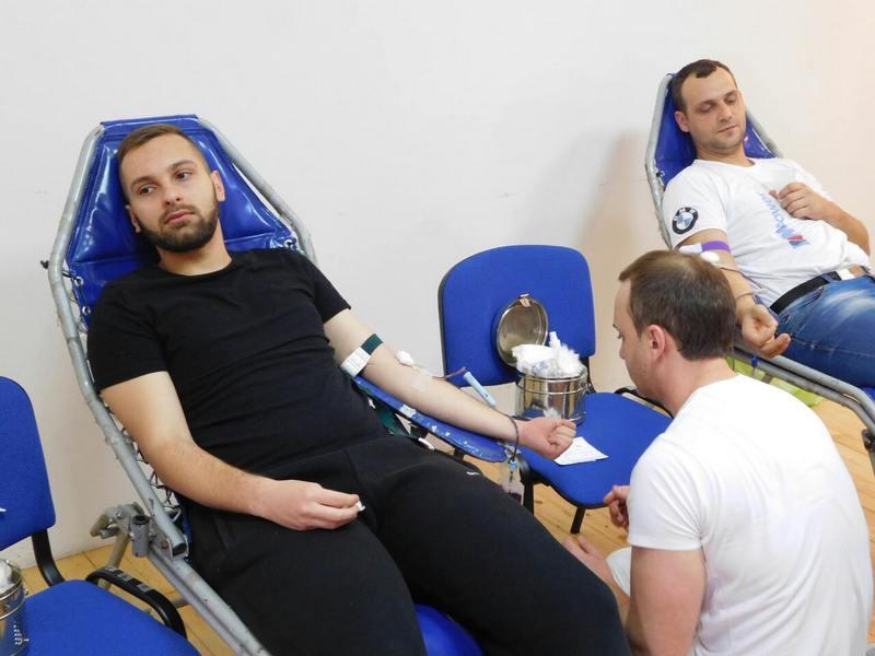 Akcija dobrovoljnog davanja krvi u Leskovcu