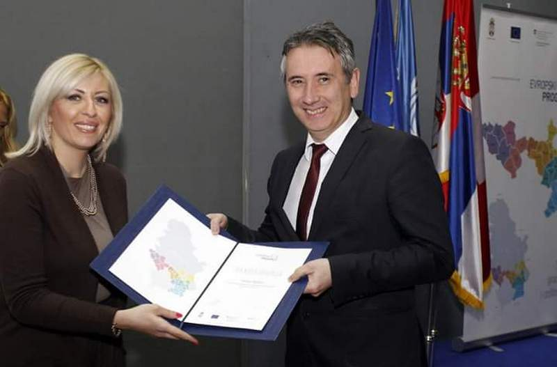 Vranju zahvalnica za uspešnu saradnju sa Evropskim PROGRESOM