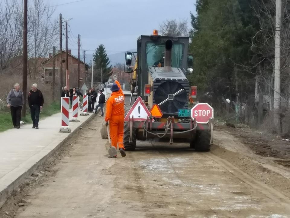 Asfaltira se najduža deonica u Leskovcu