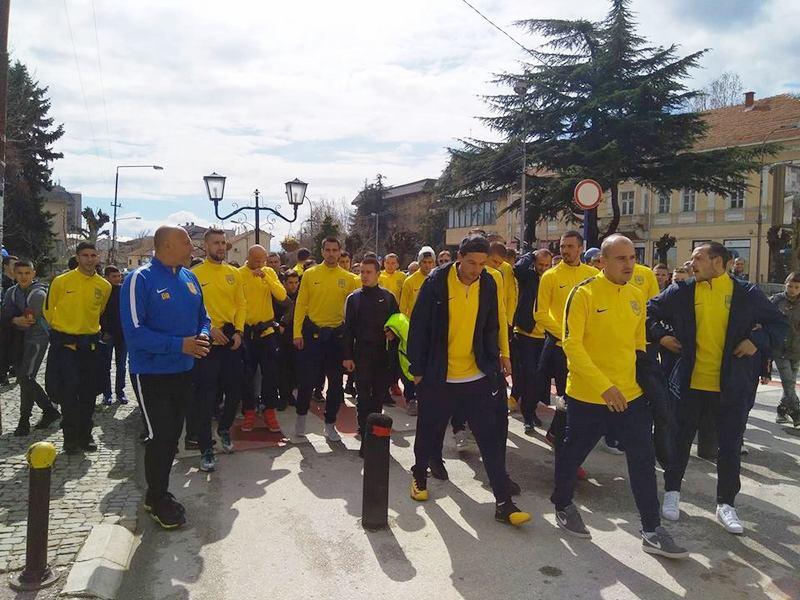 Dinamovci u protestnoj šetnji kroz Vranje pozivali predsednika Vučića u pomoć