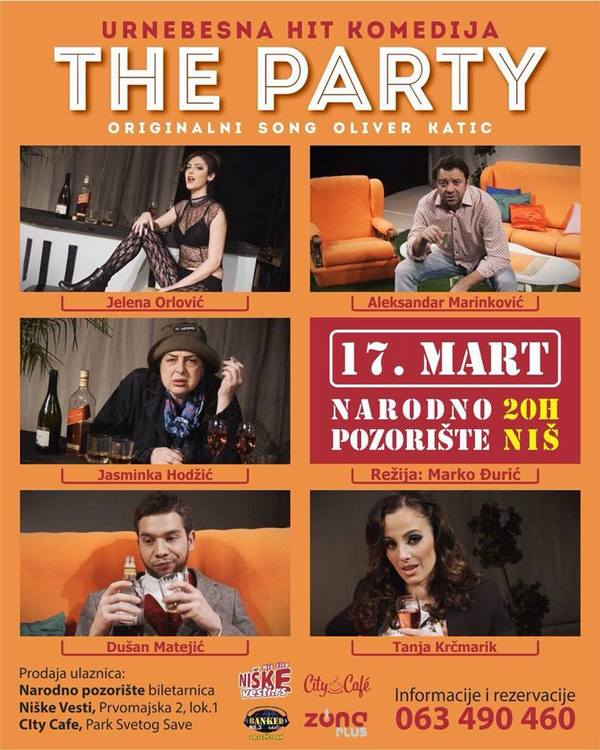 "Urnebesna komedija koju ne smete propustiti: ""The Party"" u Nišu"