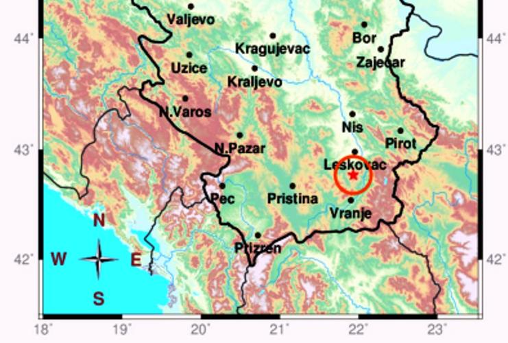 Zemljotres u Vladičinom Hanu