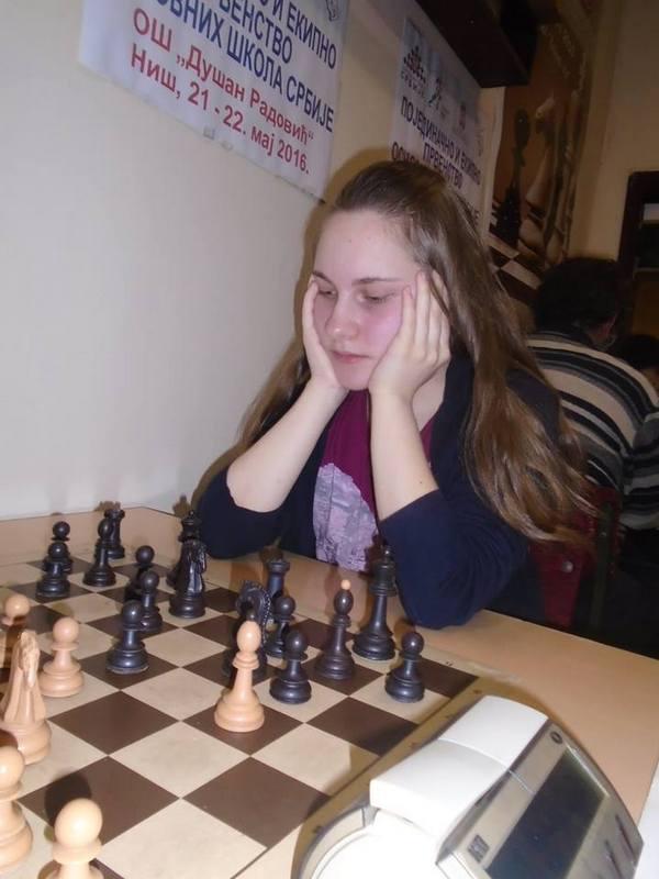 Anđela Dimitrijević pobednica Kadetskog prvestva Srbije u šahu