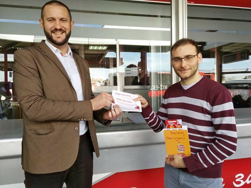 """""""Niš-ekspres"""" putom do Beča nagradio putnika sa najvećim brojem onlajn karata"""