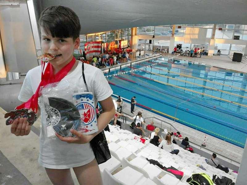 Novak Stojiljković iz PK Leskovac najbolji plivač na međunarodnom takmičenju u Beogradu
