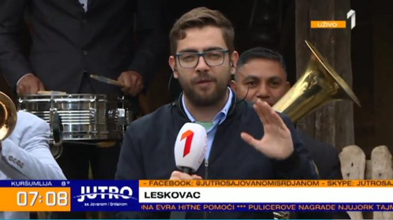 Napadnuta ekipa TV PRVE koja je Leskovac htela da predstavi u najboljem svetlu (TV JUGMEDIA)