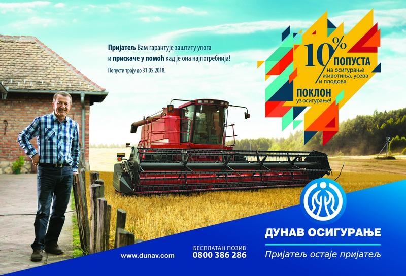 DUNAV OSIGURANJEAkcija popusta za poljoprivrednike