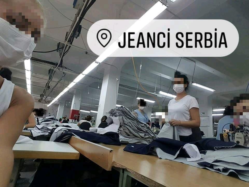 """Proglašena EPIDEMIJA malih boginja u fabrici """"Džinsi"""", ŠIJU POD MASKAMA (VIDEO)"""