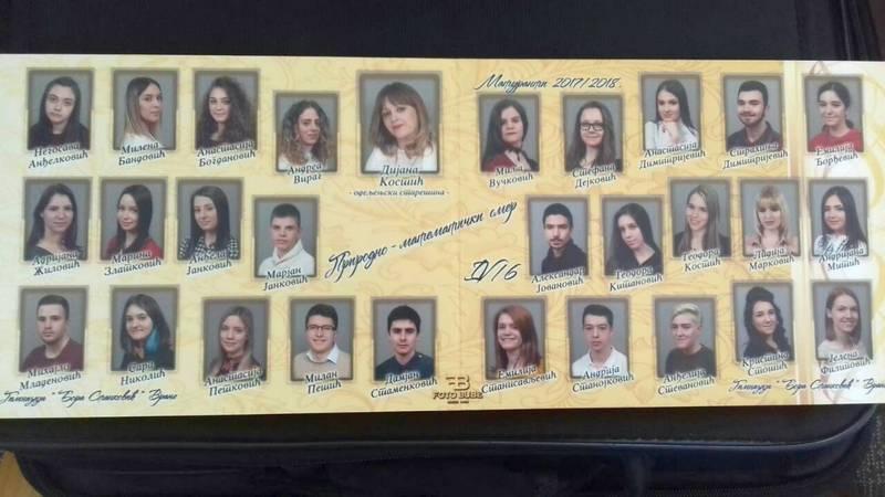 U istoriji gimnazije najbolje odeljenje generacija 1999