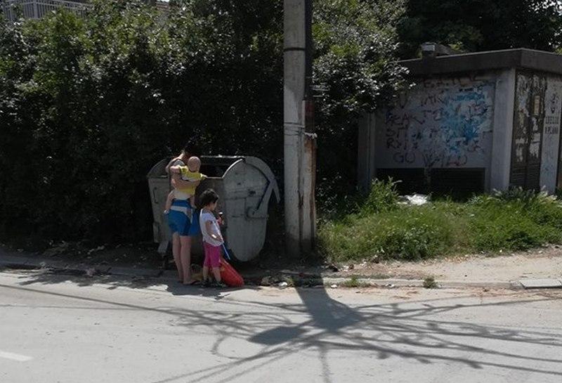 Žena koja je sa decom čeprkala po kontejnerima je Nišlijka, raste broj socijalno ugroženih