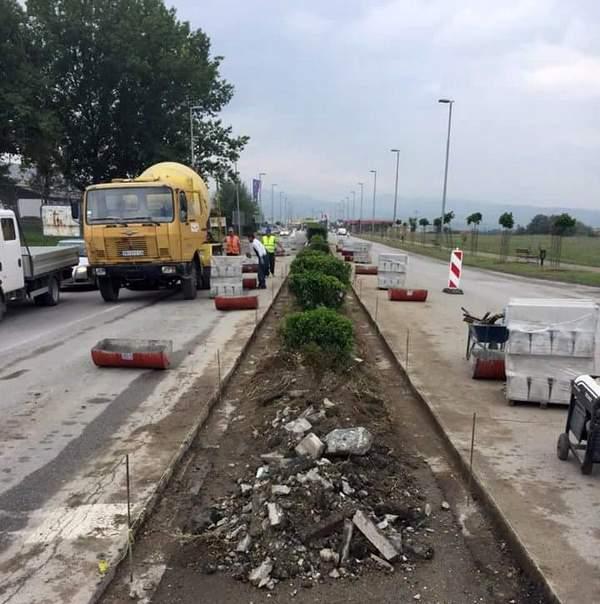 Počelo uređenje saobraćajnih ostrva