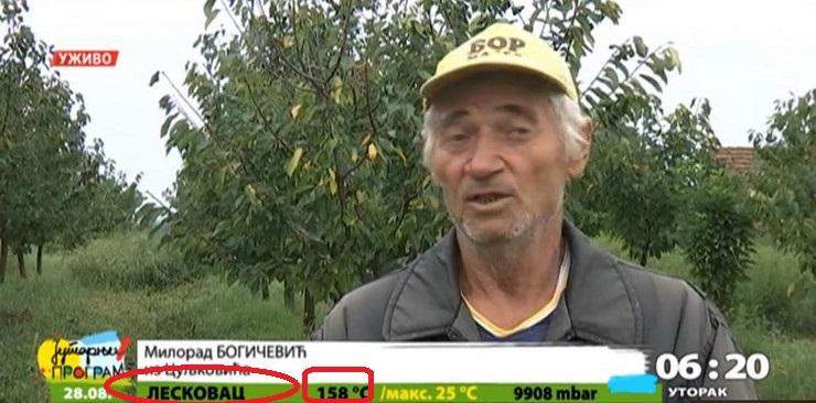 Po prognozi RTS-a Leskovčani i Nišlije žive u PAKLU