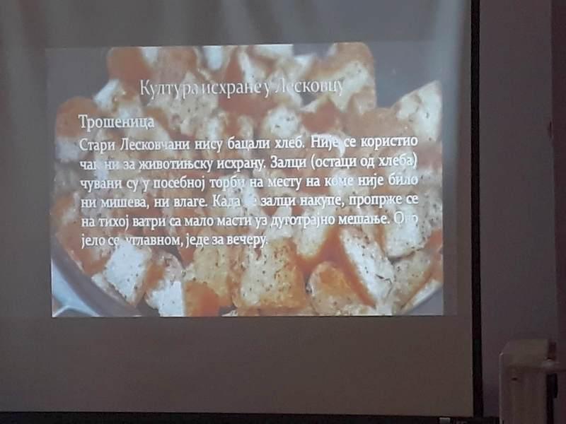 Sve o kulinarstvu kroz predavanje i film u leskovačkoj biblioteci